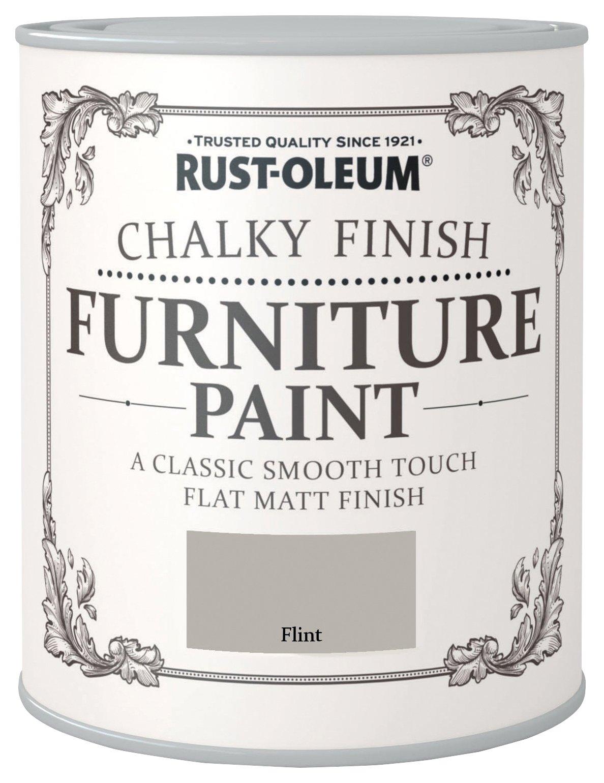 Rust-Oleum Chalky Matt Furniture Paint 750ml - Flint