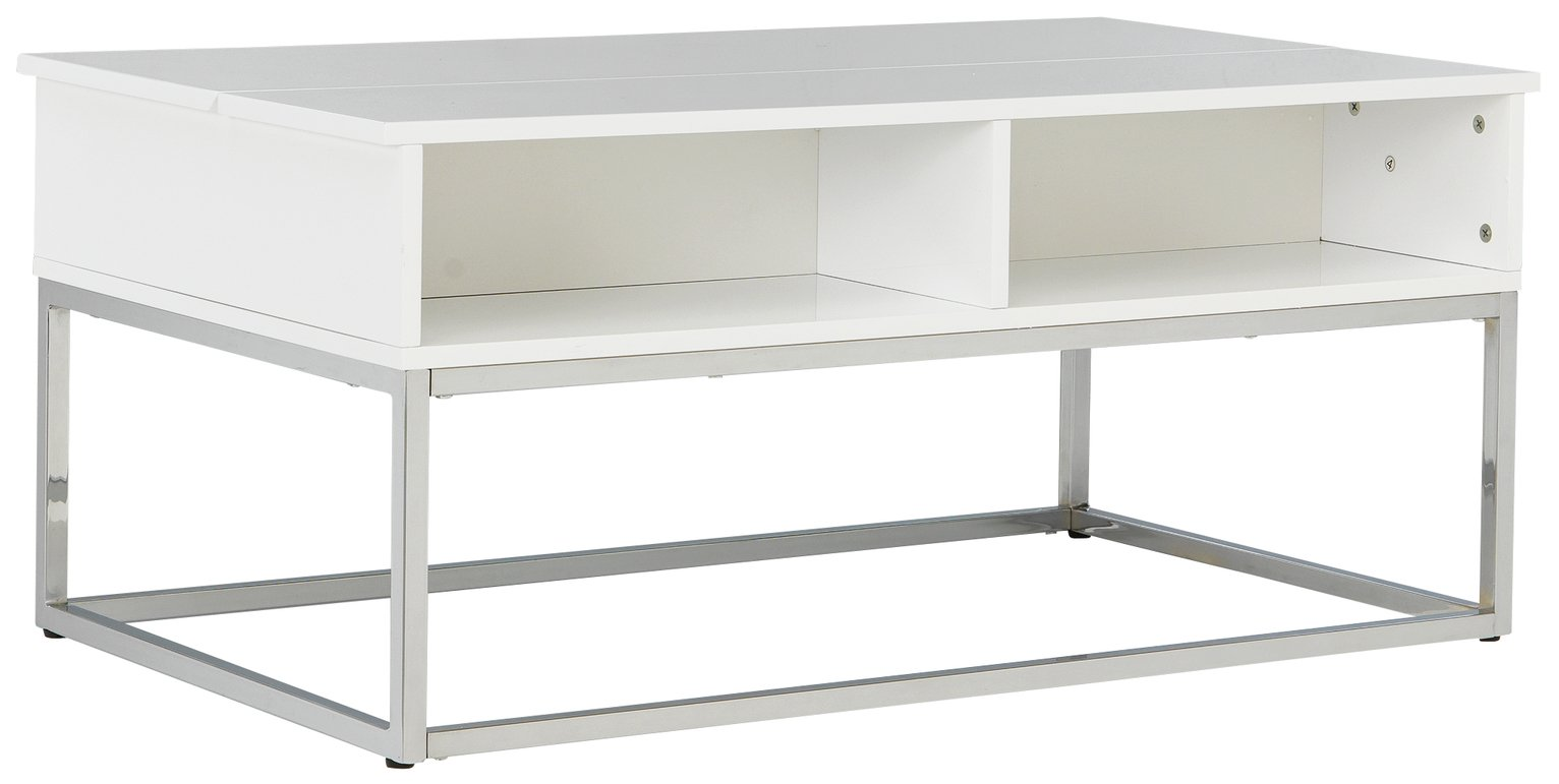 Image of Hygena Storage Coffee Table - White