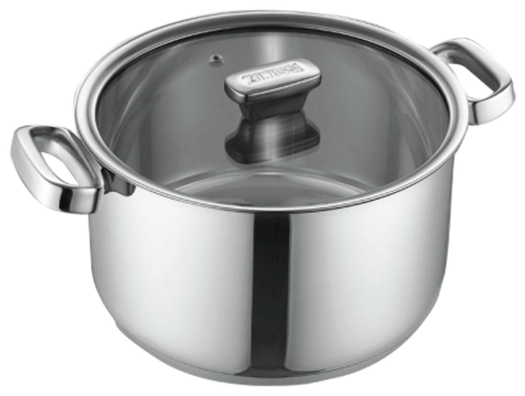 Zanussi Positano 24cm Stainless Steel Casserole Pot with Lid