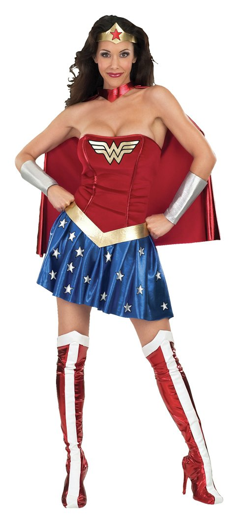 Wonder Woman Fancy Dress Costume - Size 8-10.