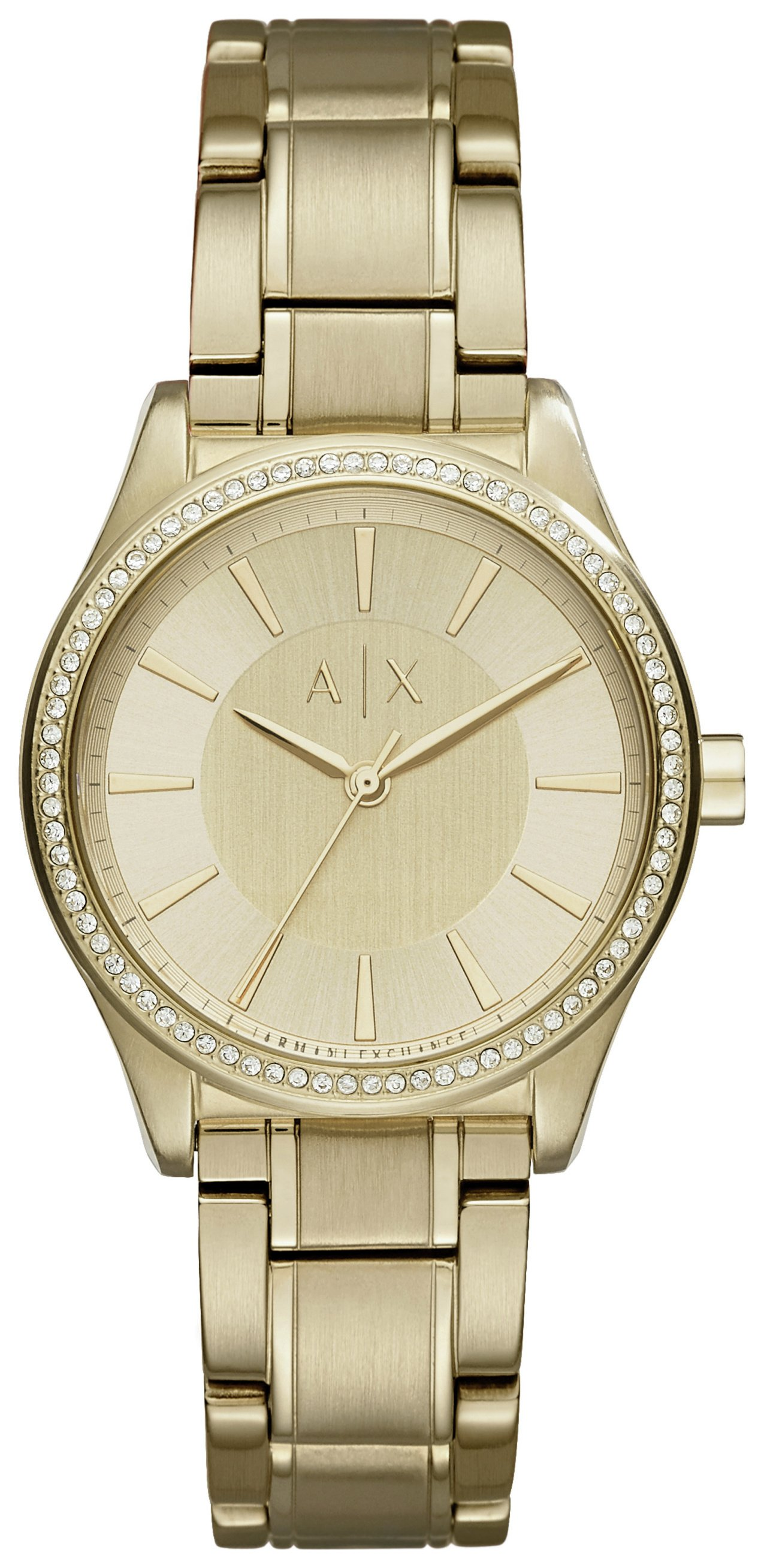 Image of Armani Exchange Ladies' AX5441 Gold Tone Bracelet Watch