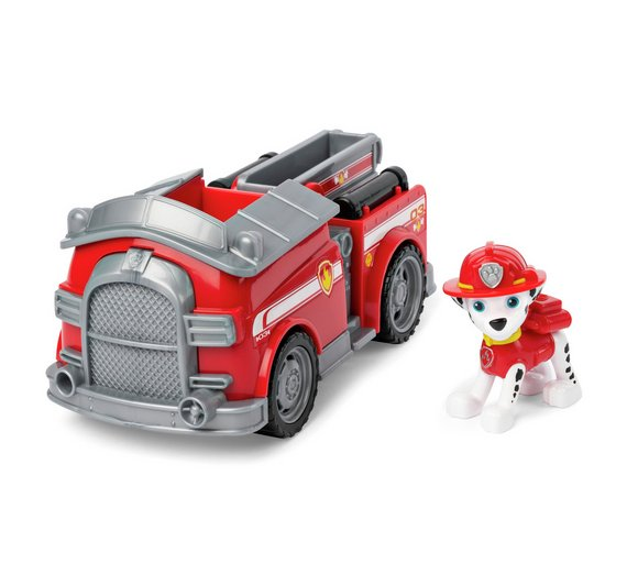 buy paw patrol marshall s fire truck vehicle and figure action