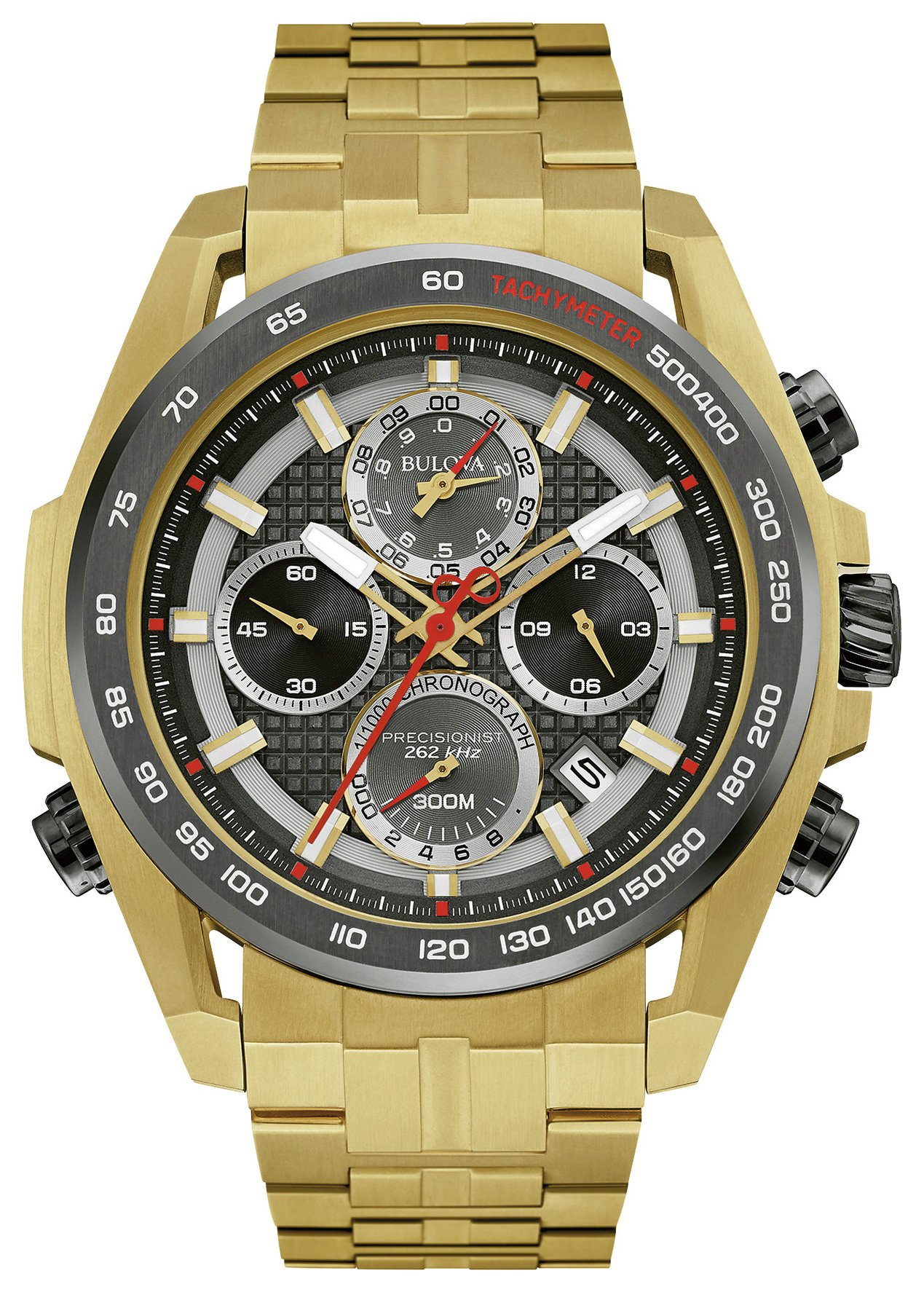 Image of Bulova Men's Precisionist Quartz Chronograph Watch