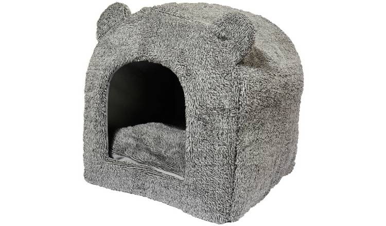 Rosewood Grey Teddy Bear Bed - Small