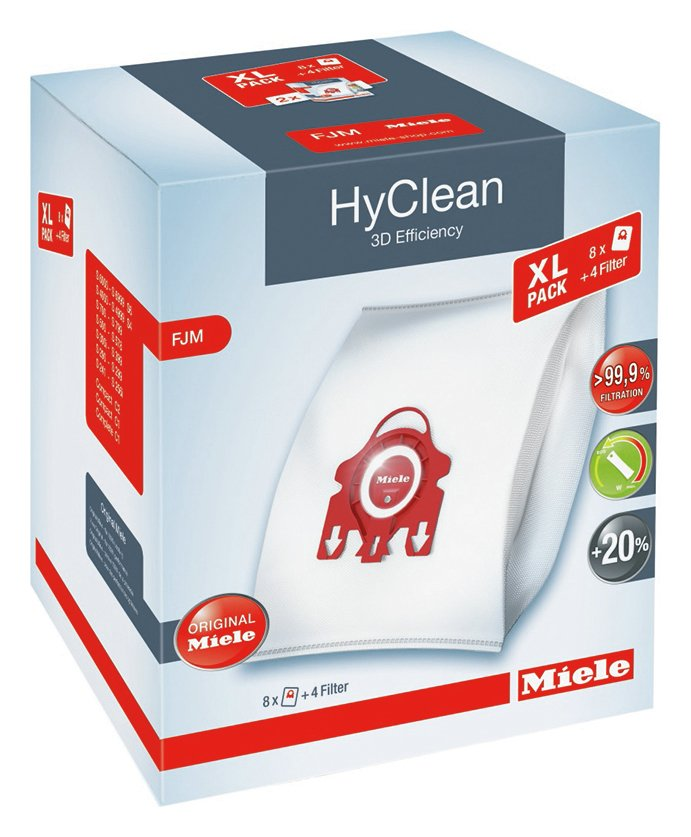Miele Pack of 8 FJM Hyclean 3D Efficiency Dustbags