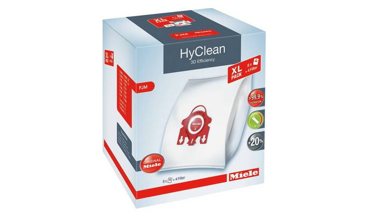 Miele FJM Hyclean 3D Efficiency Dust Bags - Pack of 8