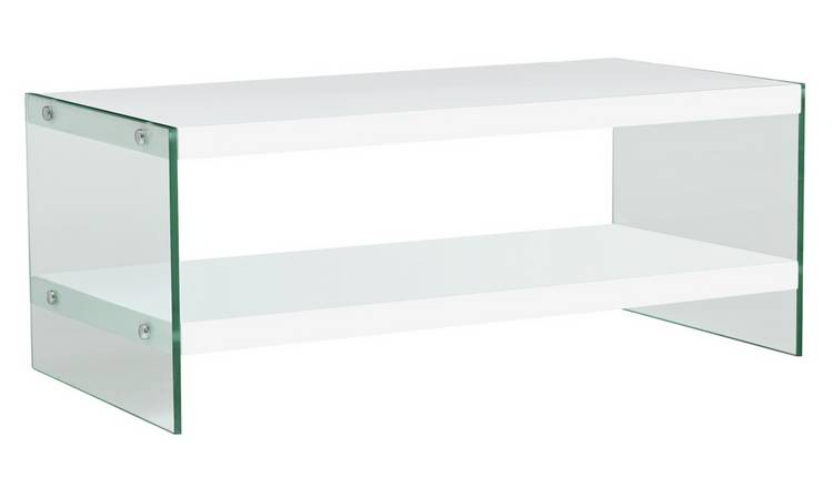 Buy Argos Home Kaspa Coffee Table White Gloss Glass Coffee Tables Argos