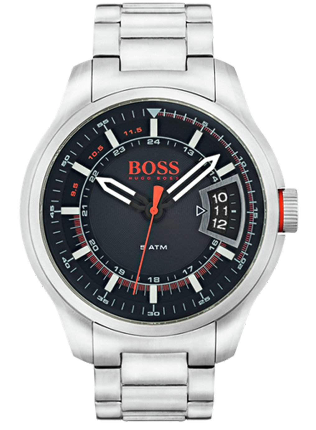 Boss Orange Hong Kong Men's Silver Steel Watch