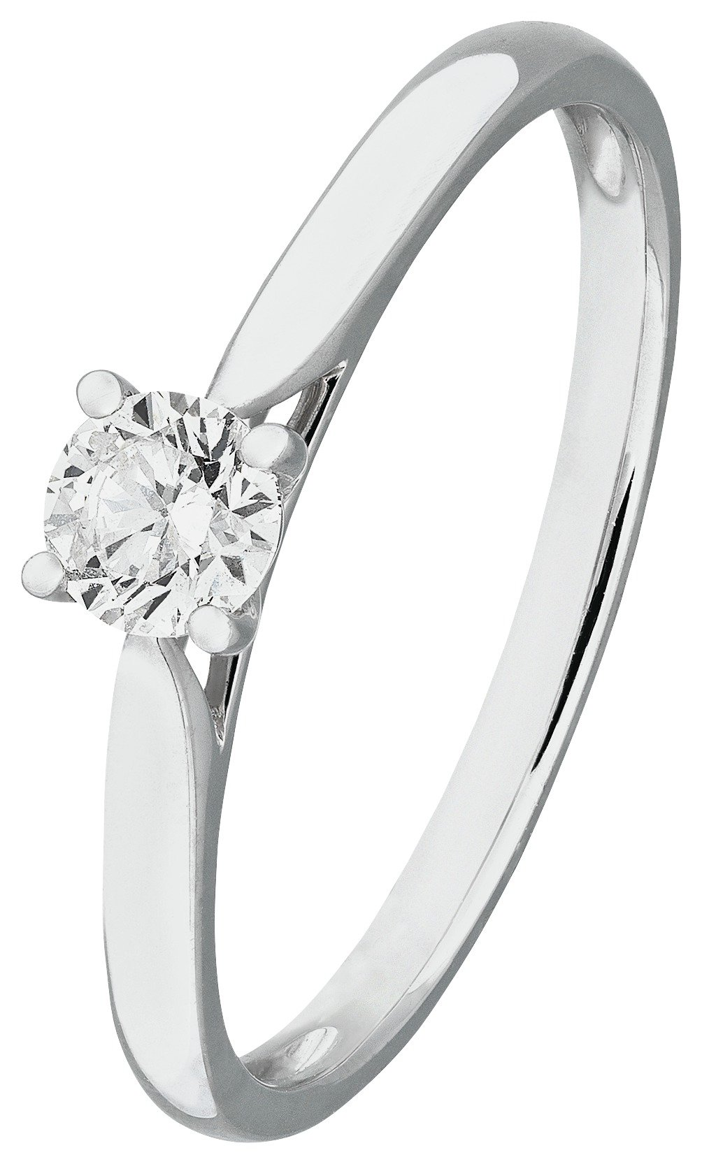 Revere 9ct White Gold 0.25ct Diamond Solitaire Ring