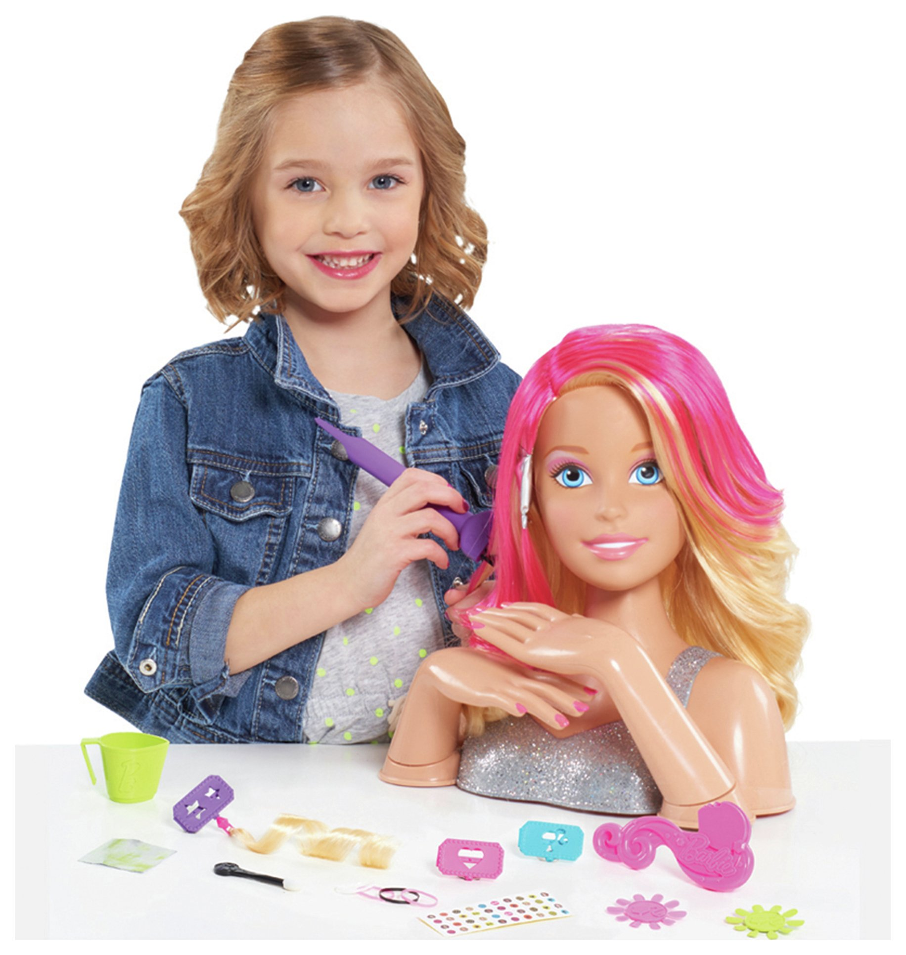 barbie flip and reveal styling head
