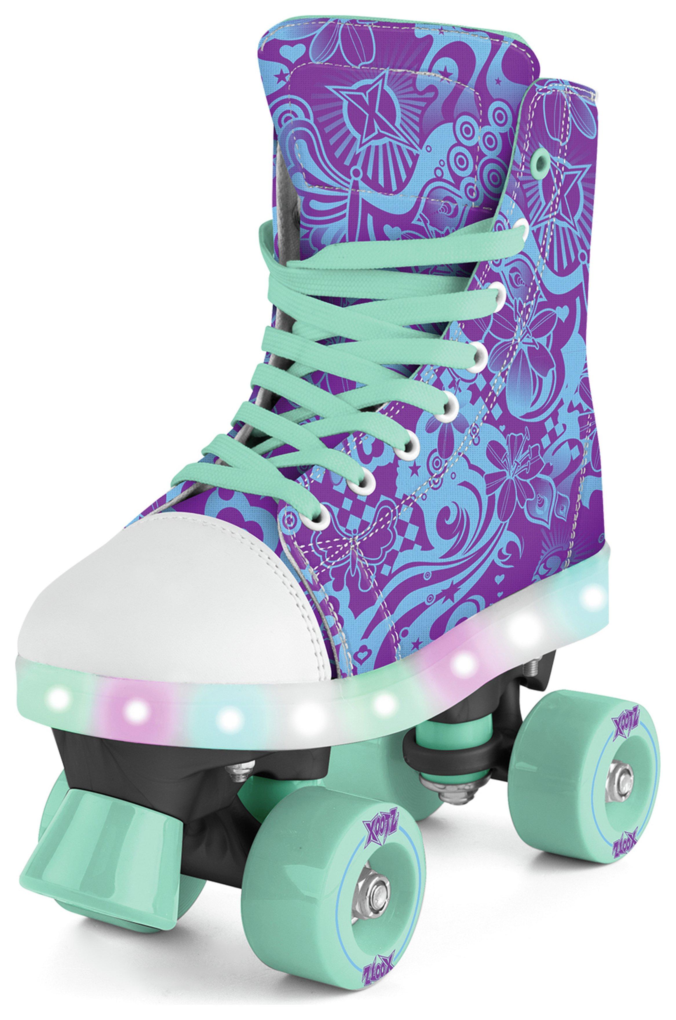 Xootz LED Quad Skates - Size 2