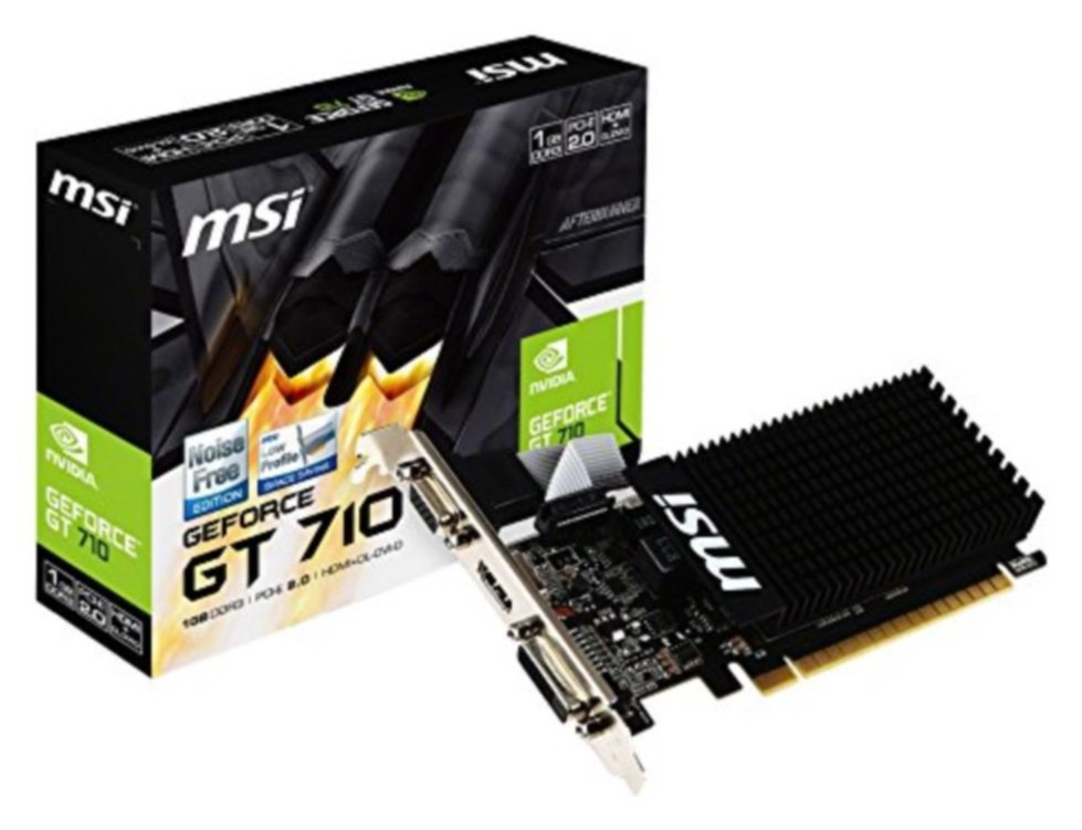 Compare retail prices of MSI Nvidia GT 710 1GB Low Profile Passive - single Slot - 954mhz 1600mhz 64-bit DDR3 Dl-DVI-d/HDMI/VGA Dx11 PCI-e 2.0 Graphics Card to get the best deal online