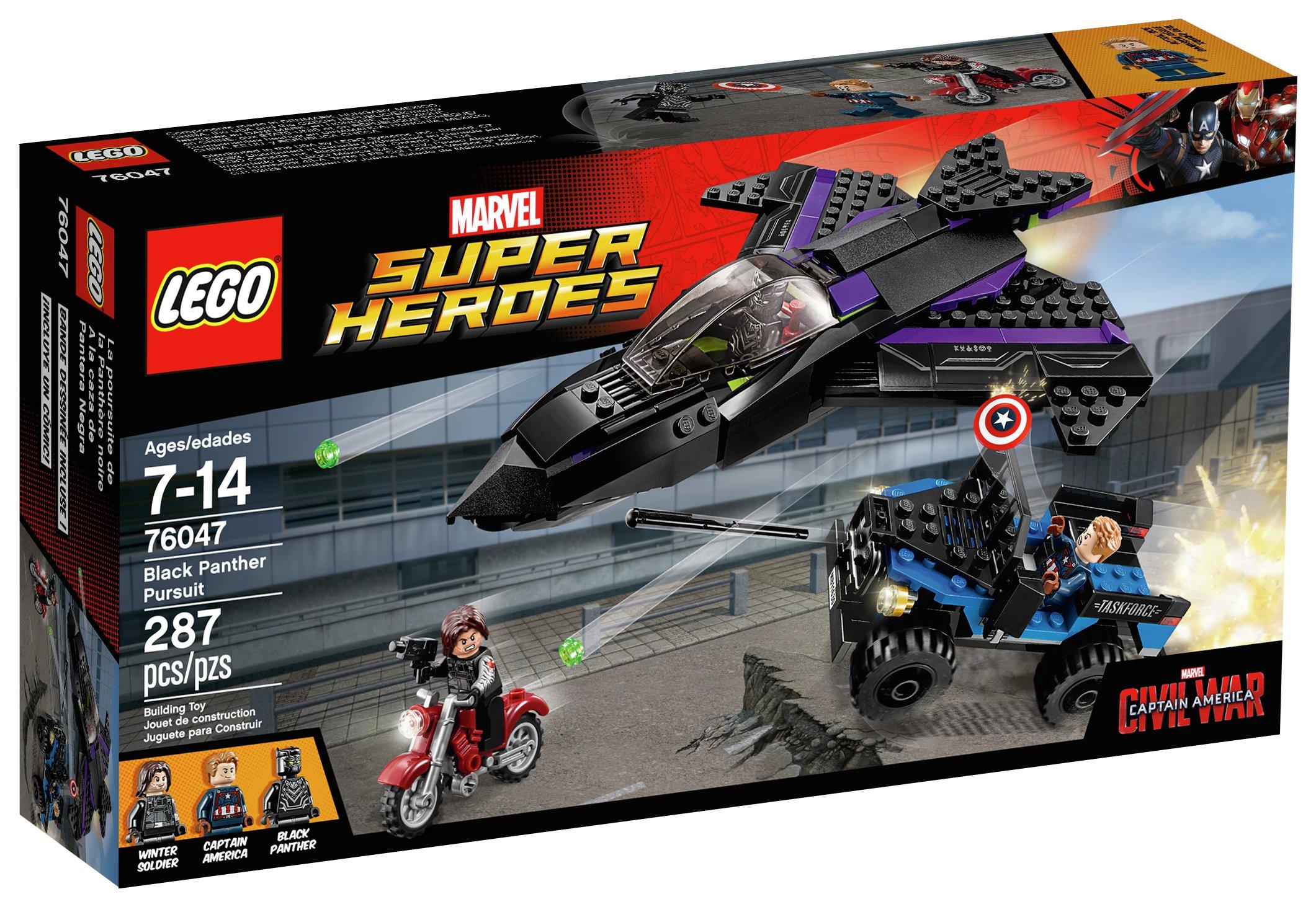 Image of LEGO Marvel Super Heroes Black Panther Pursuit - 76047