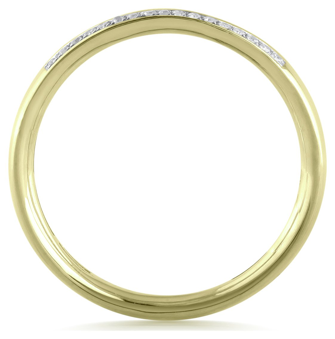 Revere 9ct Gold 0.10ct Diamond Double Row Band Ring - N