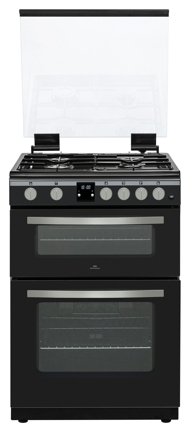 New World NWLS60DGB 60cm Double Gas Cooker - Black
