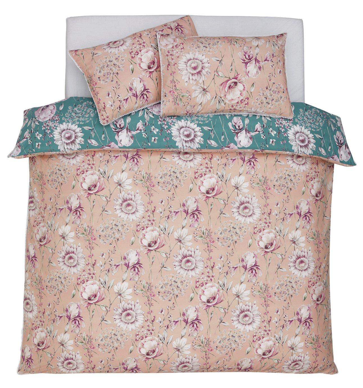 Argos Home Blush Floral Bedding Set - Double
