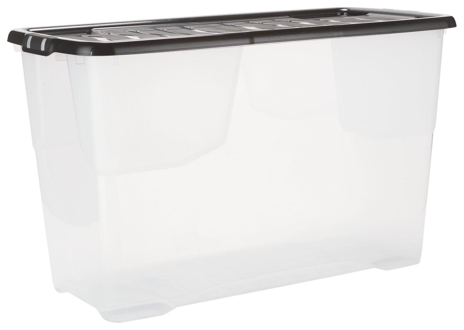 Argos Home 100 Litre Curve Plastic Storage Box and Lid