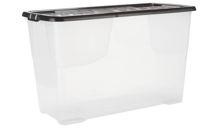 Buy Argos Home 100 Litre Curve Plastic Storage Box And Lid Plastic Storage Boxes Argos