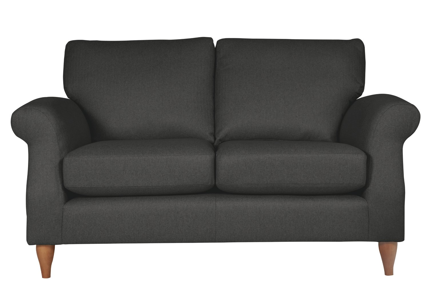 Argos Home Bude 2 Seater Fabric Sofa - Charcoal