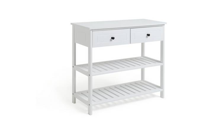 Habitat 2 Drawer Console Table - White