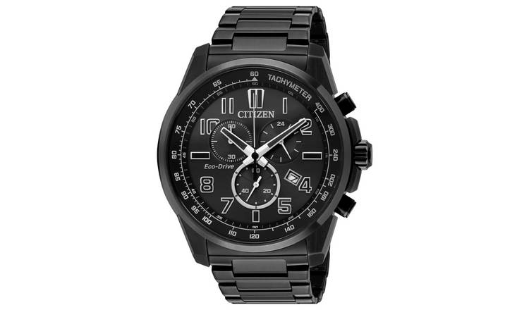 Citizen Men's Chronograph Black Stainless Steel  Watch