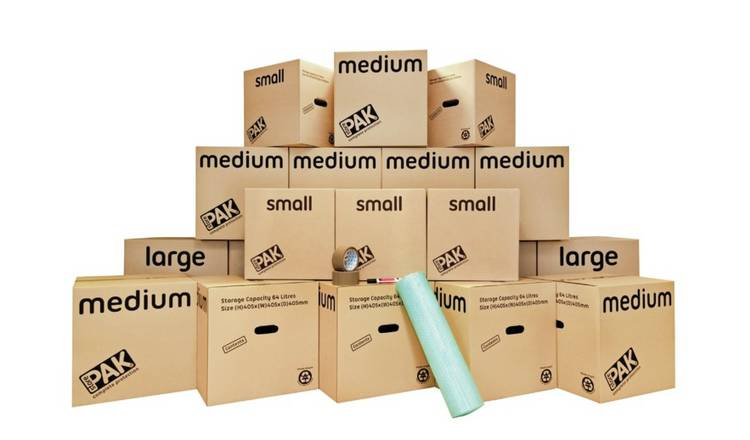 StorePAK Moving House Cardboard Storage Boxes - Set of 20