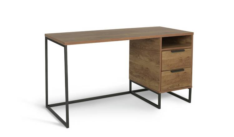 Habitat Nomad 2 Drawer Desk - Oak Effect