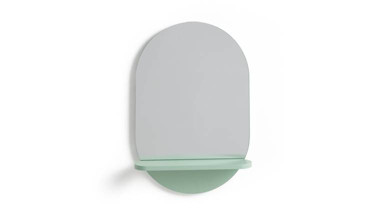 Habitat Freja Mirror with Shelf - Green