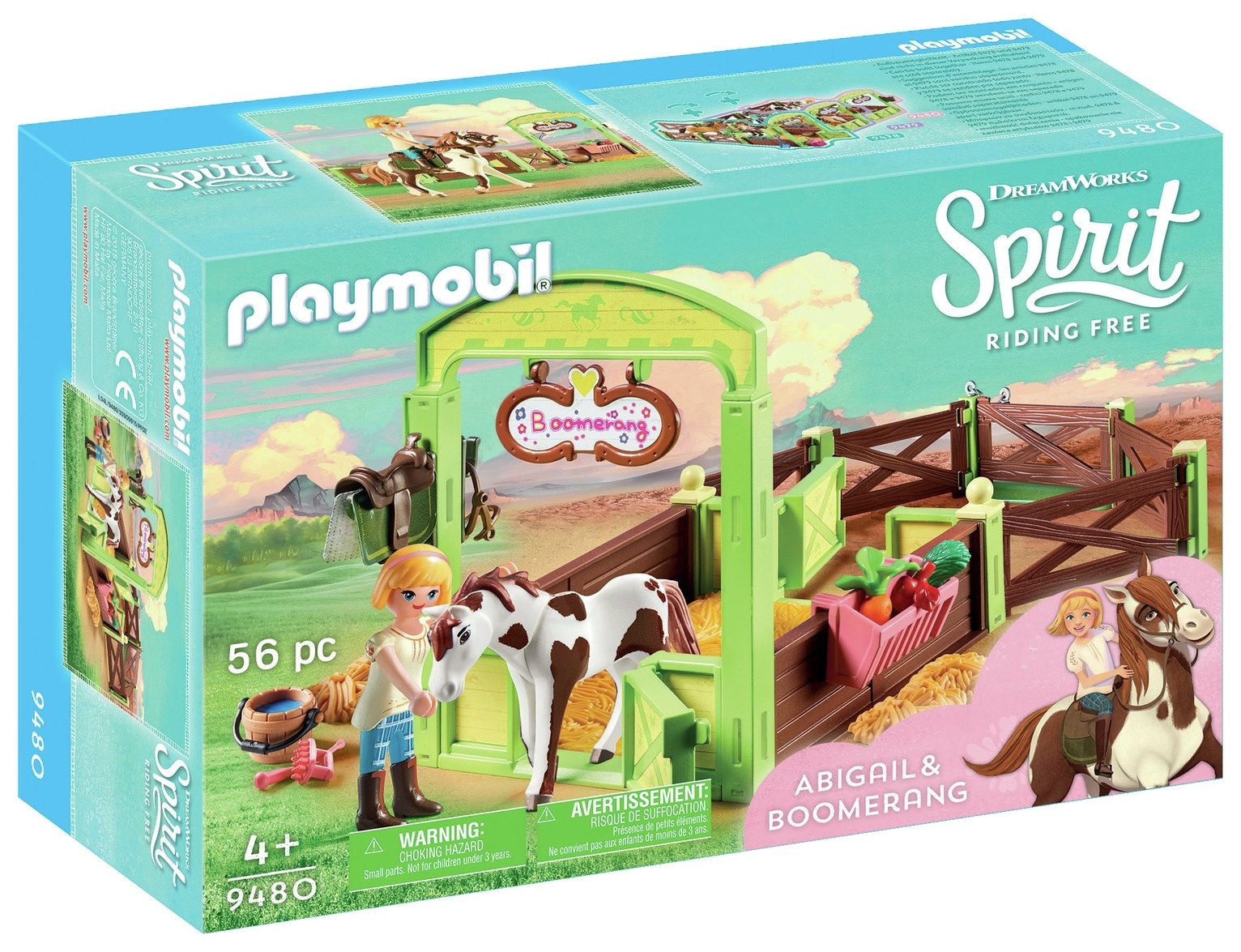 DreamWorks Spirit 9480 Abigail & Boomerang By Playmobil