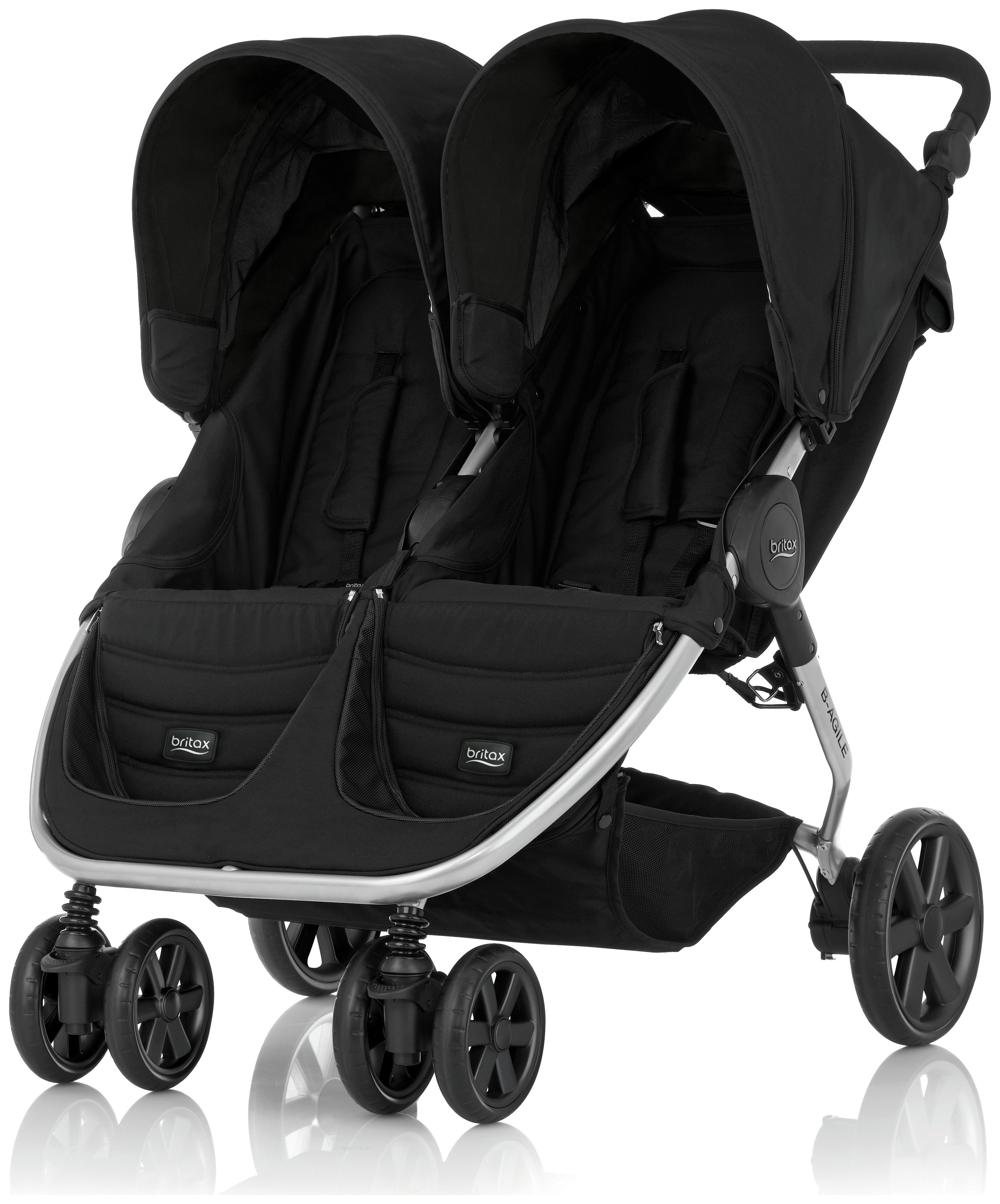 Image of Britax Romer B-AGILE DOUBLE Pushchair - Cosmos Black