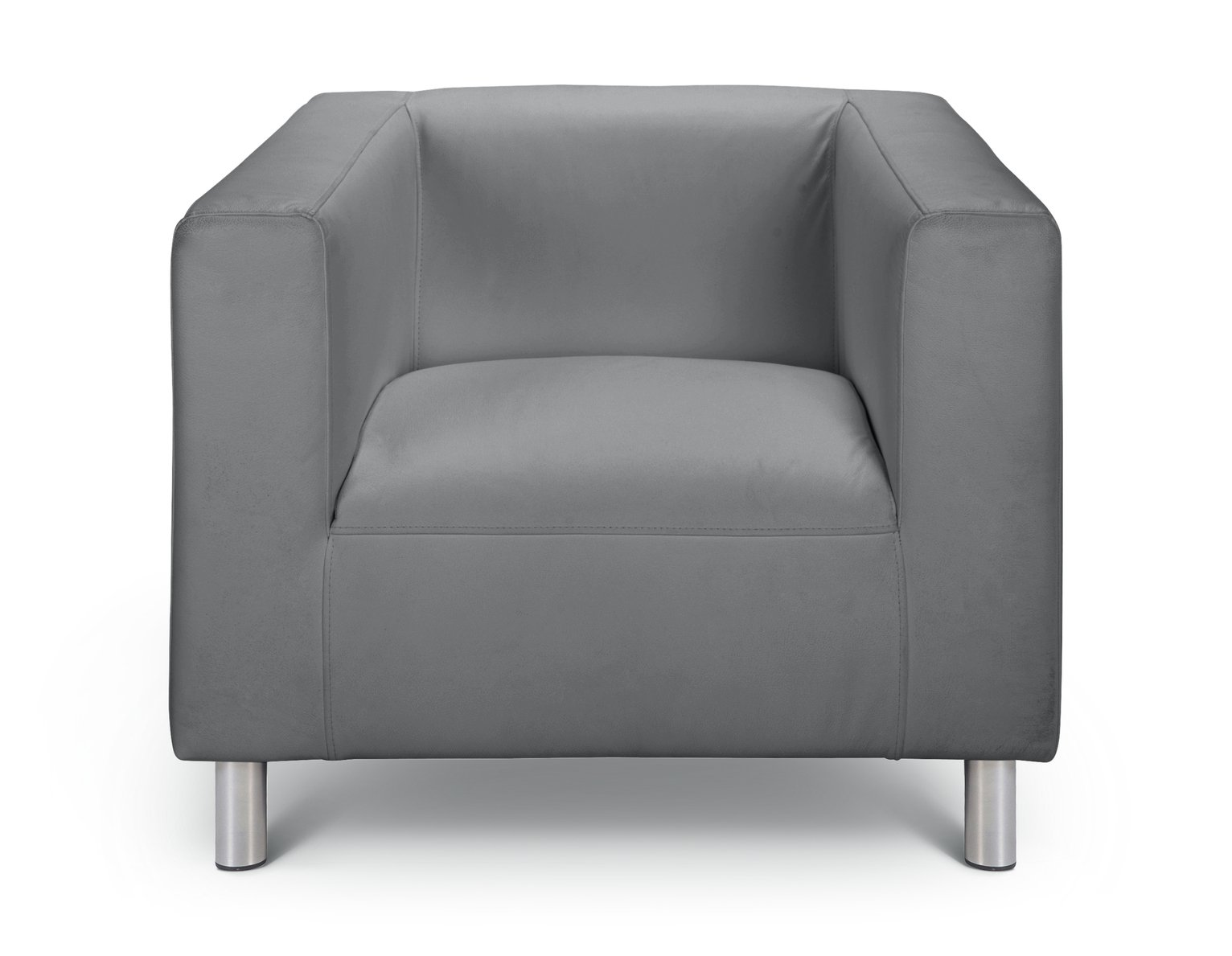 Argos Home Moda Faux Leather Armchair - Grey