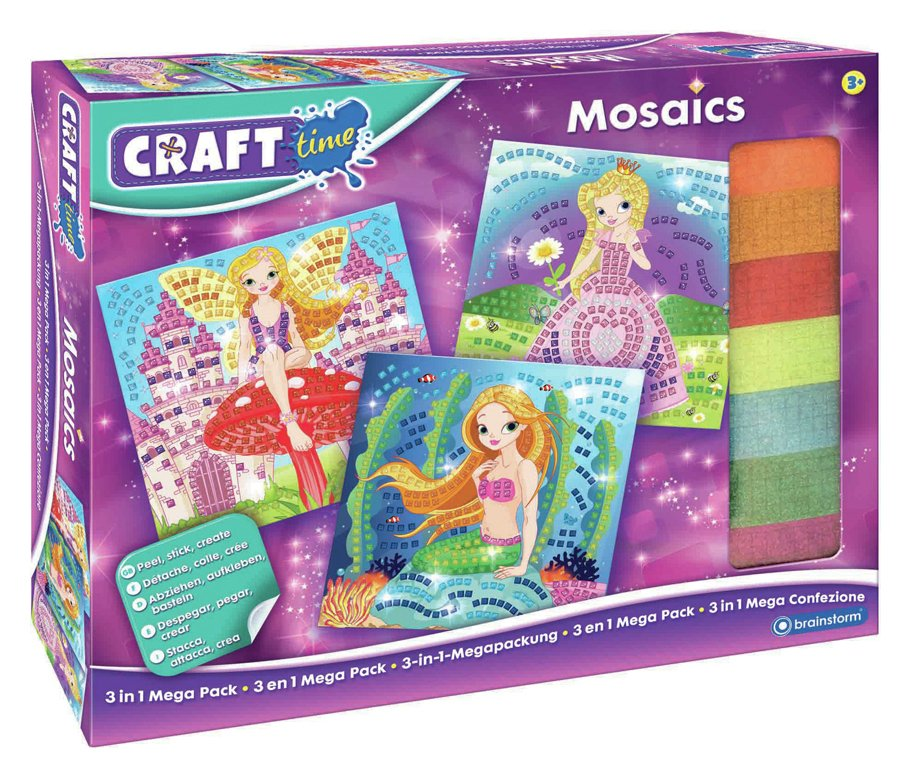 Image of Craft Time Mosaics 3-in-1 Mega Pack.