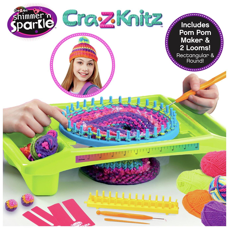 Shimmer Sparkle Cra Z Knits Ultimate Neon Knitting Station