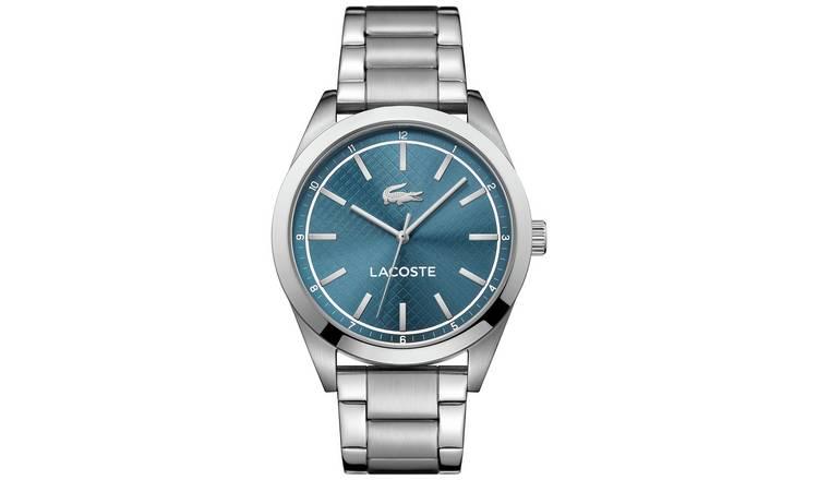 ec566ab52a8 Buy Lacoste Edmonton Men s Silver Stainless Steel Bracelet Watch ...