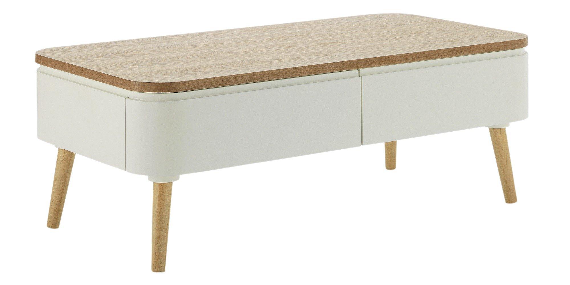 buy hygena reese round corner 2 drawer coffee table at argos.co.uk