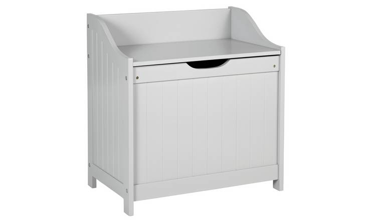 Argos Home 60 Litre Monks Bench Style Laundry Box - Grey