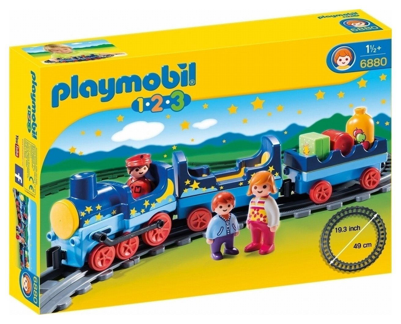 Playmobil 6880 123 Night Train with Track