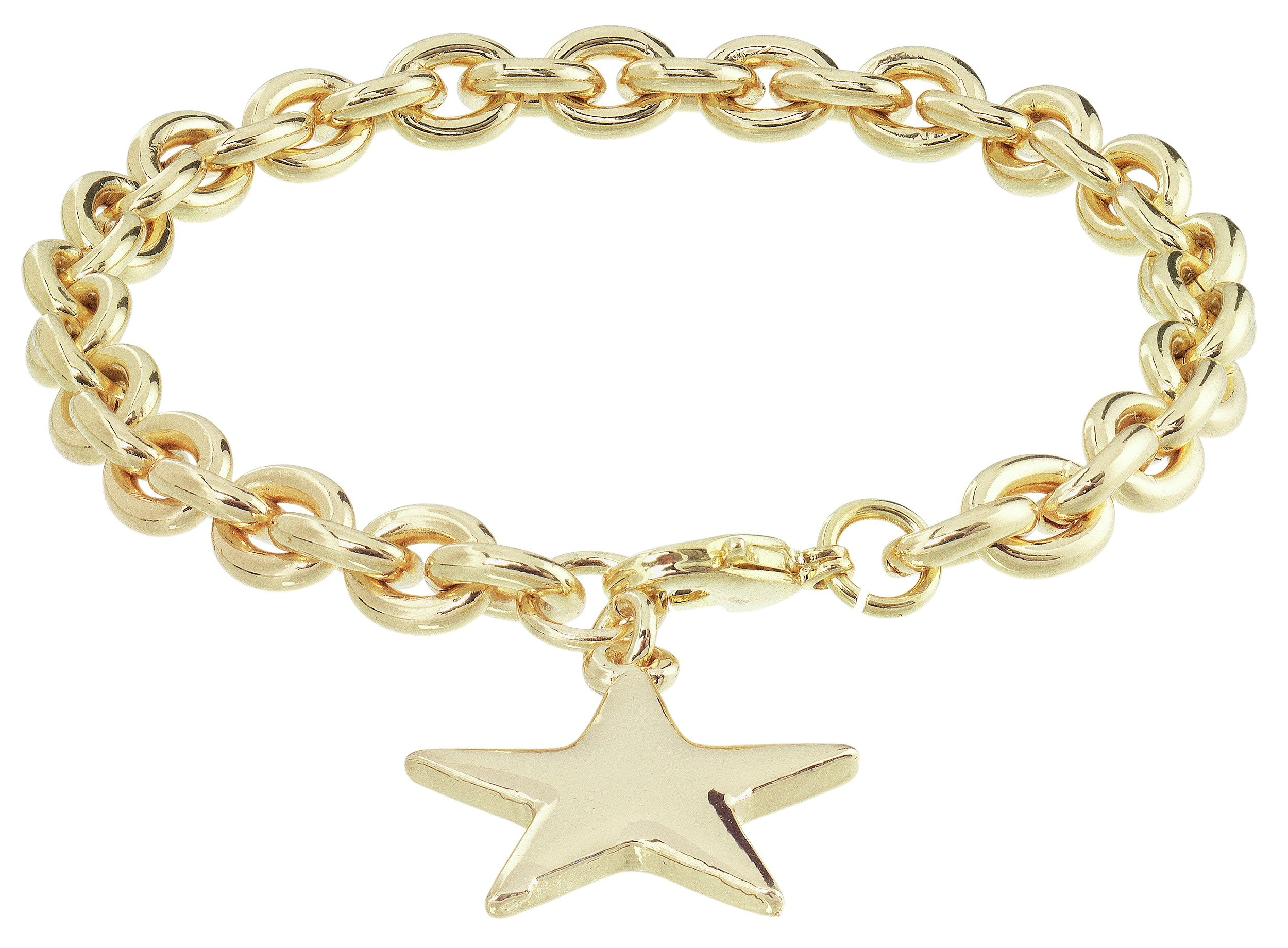 Image of Amelia Grace Gold Plated Star Charm Chain Bracelet