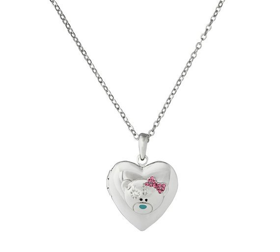 Image of Me to You Tatty Teddy Crystal Heart 2 Photo Locket