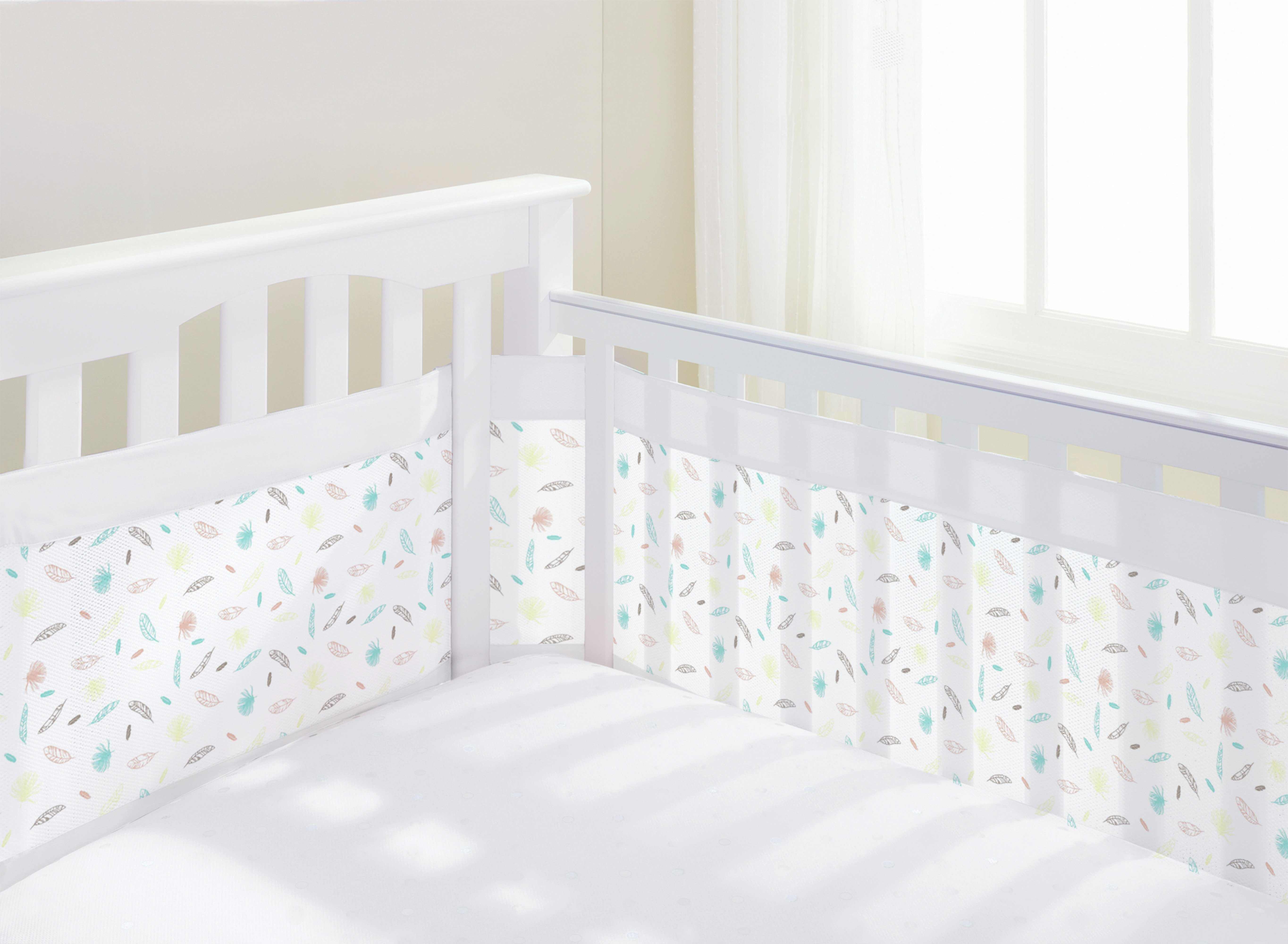 Image of BreathableBaby AirflowBaby Marabou Mesh Cot Liner - 4 Sided.