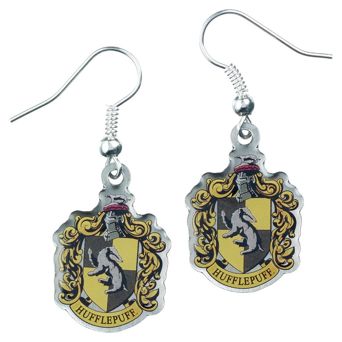 Image of Harry Potter Hufflepuff Crest Earrings