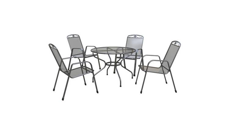 97a384e98e90 Buy Royal Garden Savoy 4 Seater Metal Patio Set | Garden table and ...