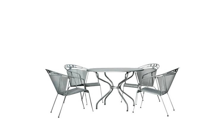 Royal Garden Elegance 4 Seater Metal Patio Set