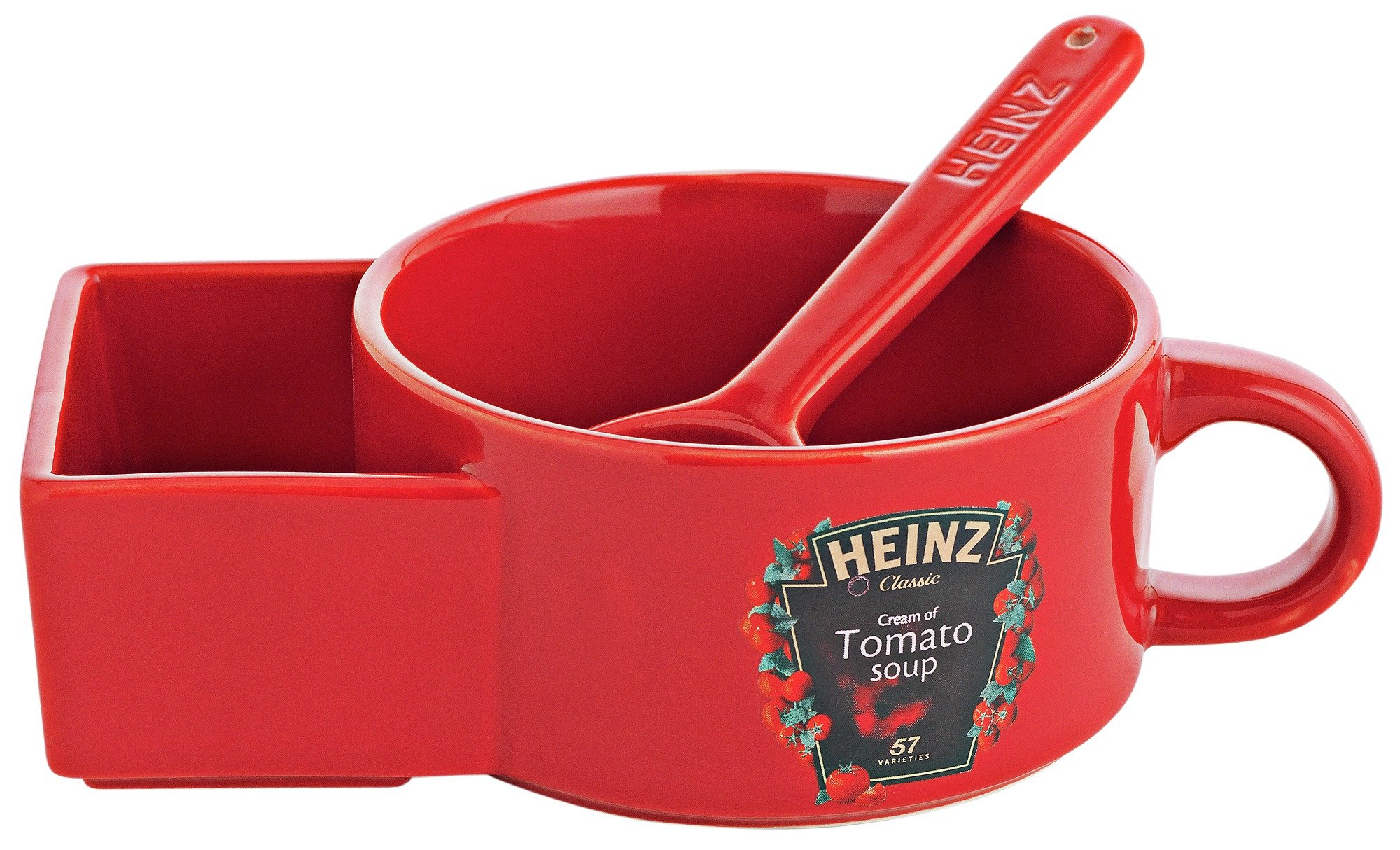 Heinz Soup Bowl with Bread Holder and Spoon