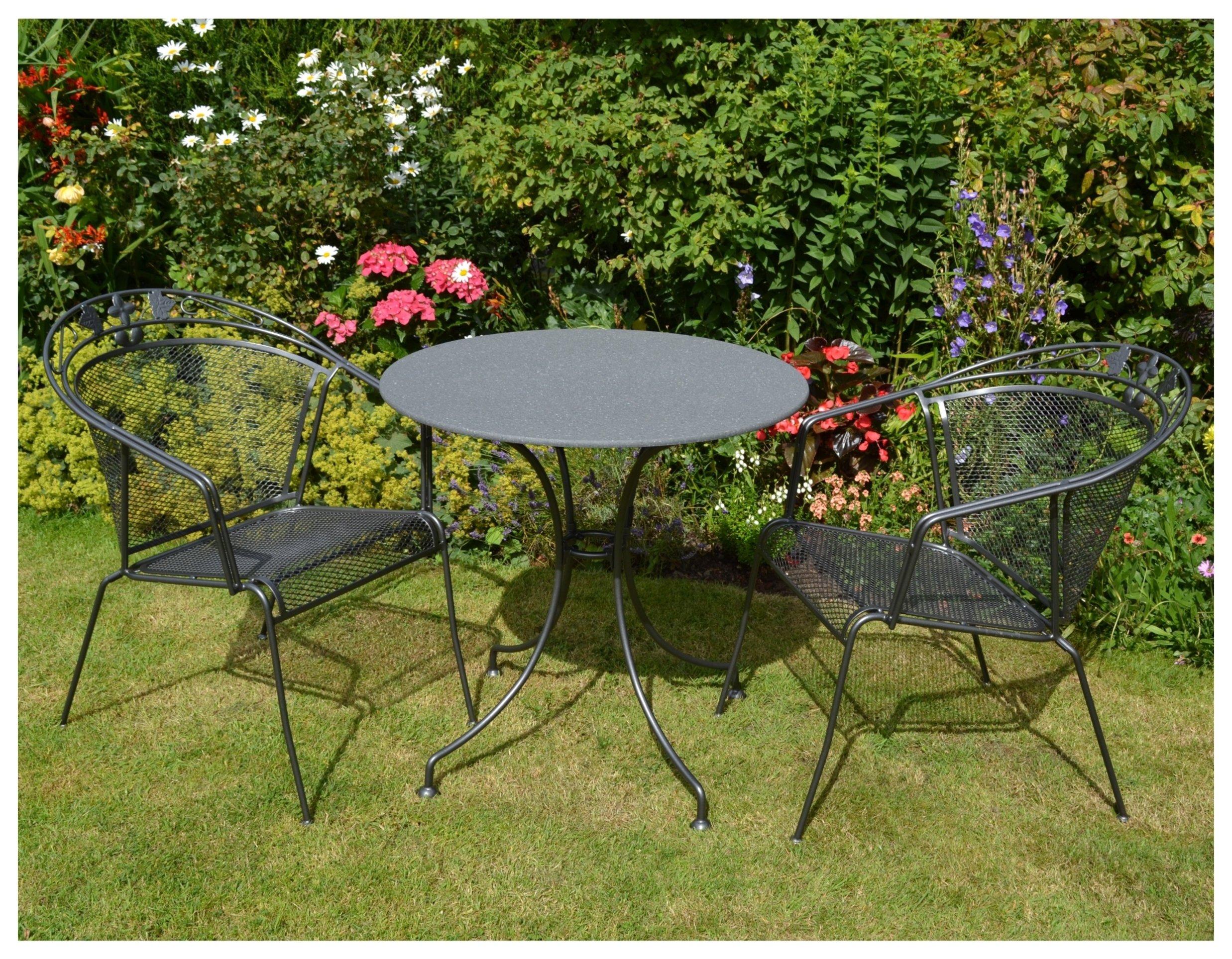 Royal Garden Elegance 2 Seater Metal Bistro Set