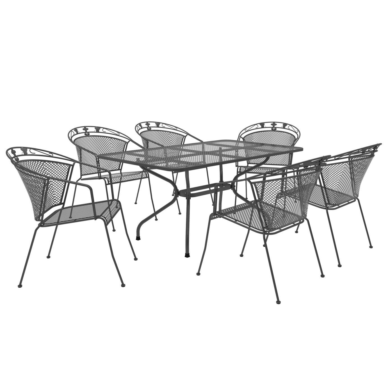 Royal Garden Elegance 6 Seater Metal Patio Set
