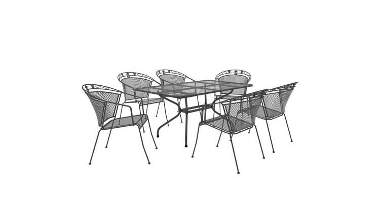 Metal Patio Furniture.Buy Royal Garden Elegance 6 Seater Metal Patio Set Patio Sets Argos