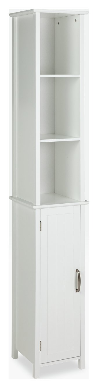Collection New Tongue and Groove Tall Cabinet - White