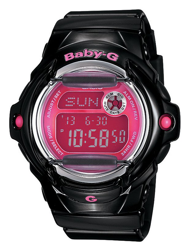 Image of Casio Baby-G Black and Pink Telememo Watch