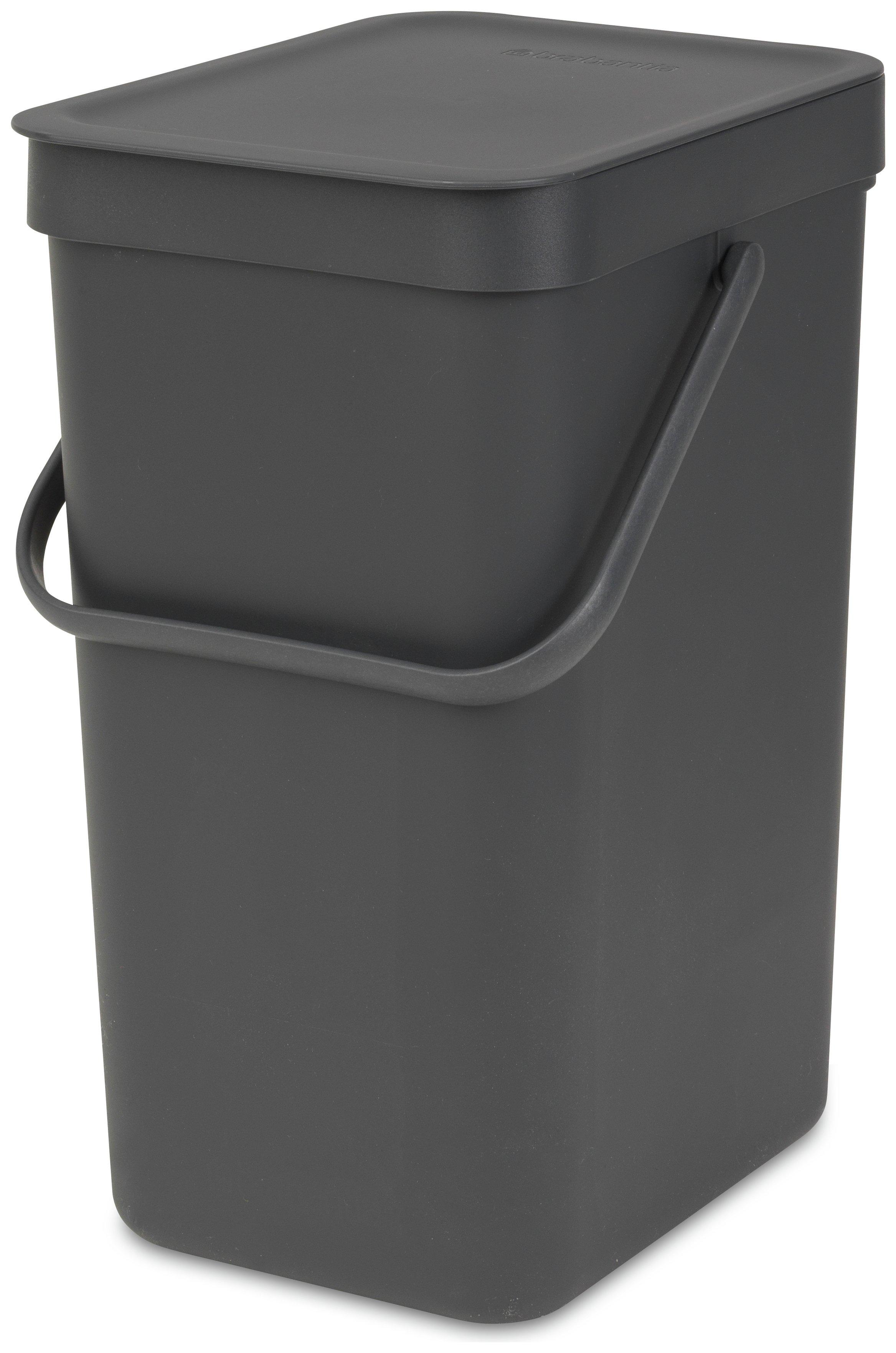 Image of Brabantia 12 Litre Sort and Go Waste Bin - Grey
